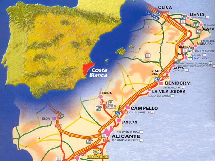 Costa Blanca Kart Blogg Om Spania